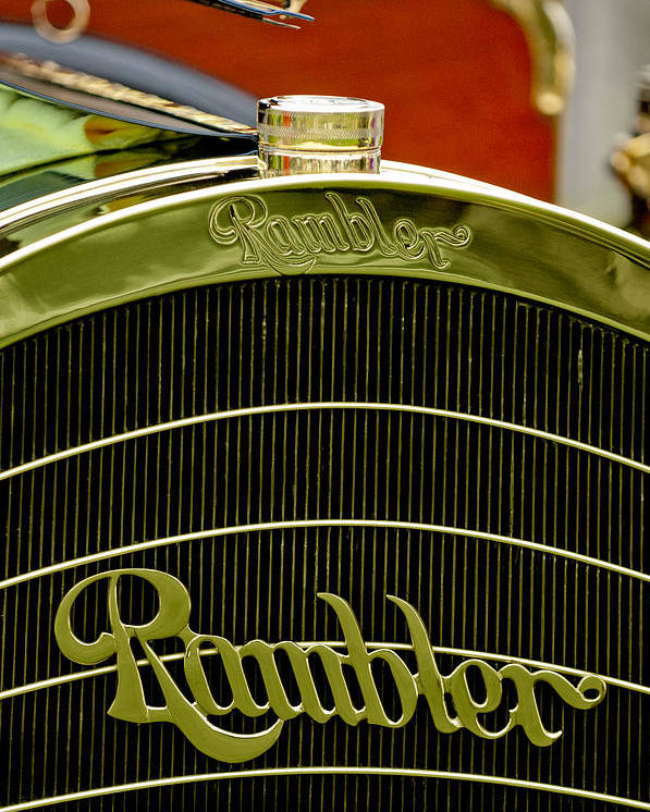 1910 Rambler Model 54 5 Passenger Touring Poster featuring the photograph 1910 Rambler Model 54 5 Passenger Touring Hood Ornament by Jill Reger