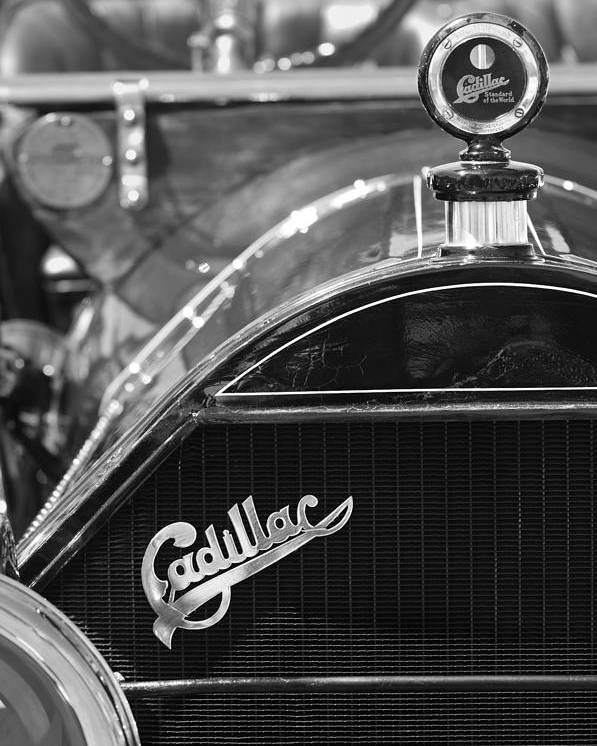 1911 Cadillac Roadster Hood Ornament Poster featuring the photograph 1911 Cadillac Roadster Grille And Hood Ornament by Jill Reger