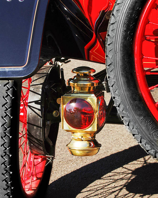 1911 Ford Model T Torpedo 4 Cylinder 25 Hp Taillight Poster featuring the photograph 1911 Ford Model T Torpedo 4 Cylinder 25 Hp Taillight by Jill Reger