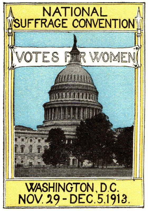 Vintage Poster featuring the painting 1913 Votes For Women by Historic Image
