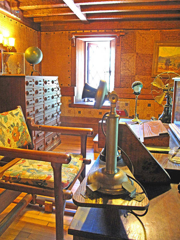 Antiques Poster featuring the photograph 1920's Office by Barbara McDevitt
