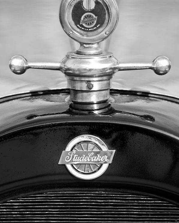 1922 Studebaker Touring Poster featuring the photograph 1922 Studebaker Touring Hood Ornament 3 by Jill Reger