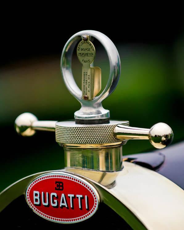 1923 Bugatti Type 23 Brescia Lavocat Et Marsaud Poster featuring the photograph 1923 Bugatti Type 23 Brescia Lavocat Et Marsaud Hood Ornament by Jill Reger