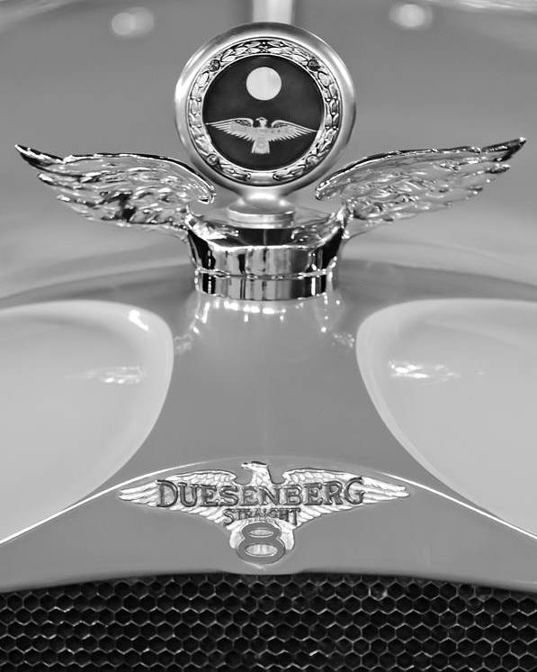 1926 Duesenberg Model A Poster featuring the photograph 1926 Duesenberg Model A Boyce Motometer 2 by Jill Reger