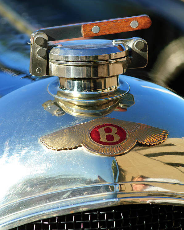 1927 Bentley Sports Poster featuring the photograph 1927 Bentley Hood Ornament by Jill Reger