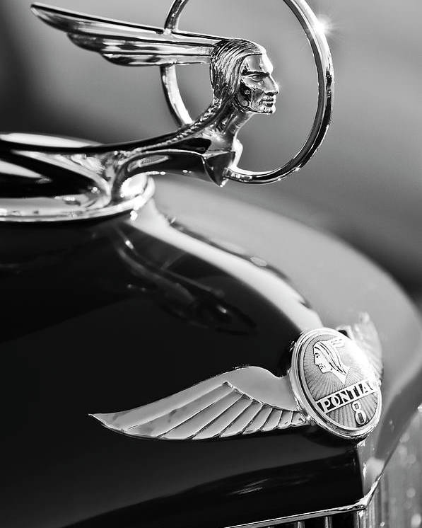 1933 Pontiac Poster featuring the photograph 1933 Pontiac Hood Ornament 4 by Jill Reger
