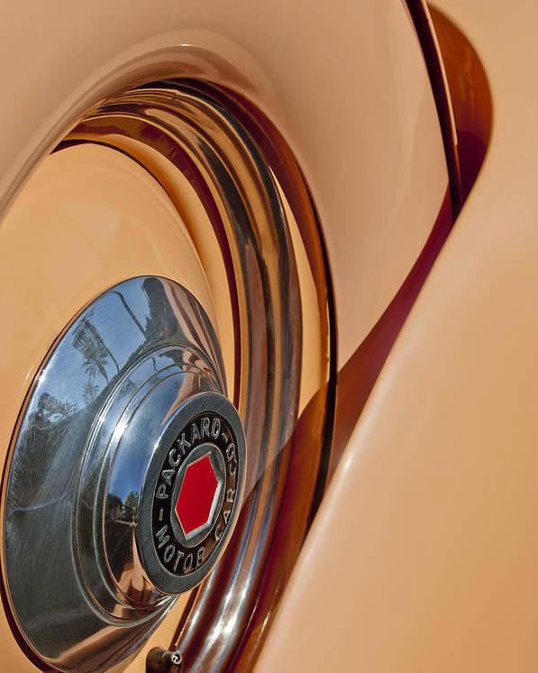 1936 Packard Poster featuring the photograph 1936 Packard Spare Tire by Jill Reger