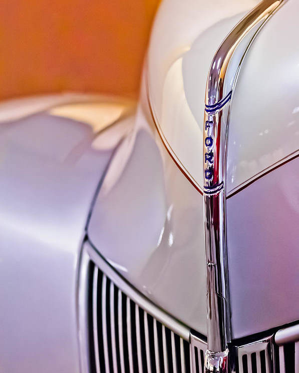 1940 Ford Hood Ornament Poster featuring the photograph 1940 Ford Hood Ornament by Jill Reger