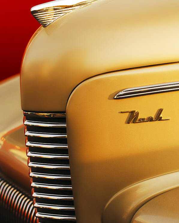 1940 Nash Sedan Grille Poster featuring the photograph 1940 Nash Sedan Grille by Jill Reger