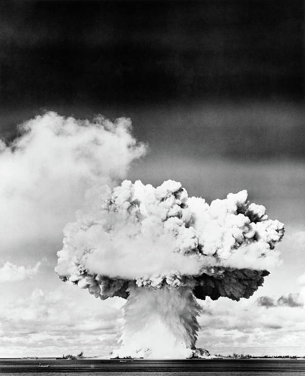 Photography Poster featuring the photograph 1940s 1950s Atomic Bomb Explosion by Vintage Images