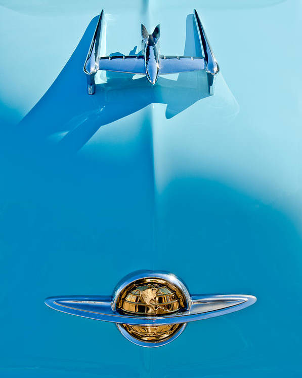 1950 Oldsmobile Poster featuring the photograph 1950 Oldsmobile Hood Ornament by Jill Reger
