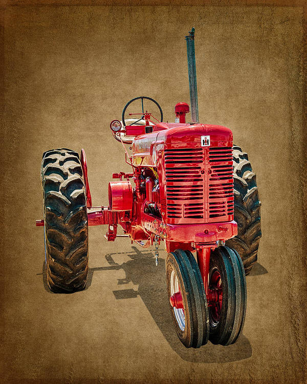 International Harvester Poster featuring the photograph 1950s Era International Harvester Tractor E108 by Wendell Franks