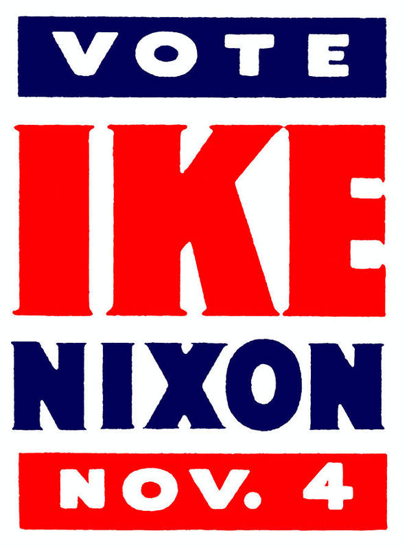 Historicimage Poster featuring the painting 1952 Vote Ike And Nixon by Historic Image