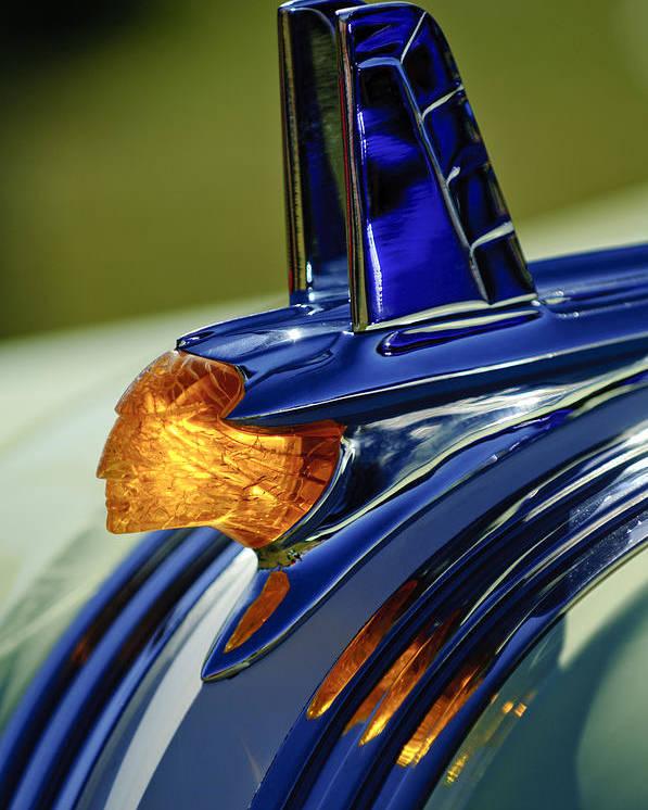 1953 Pontiac Poster featuring the photograph 1953 Pontiac Hood Ornament 3 by Jill Reger