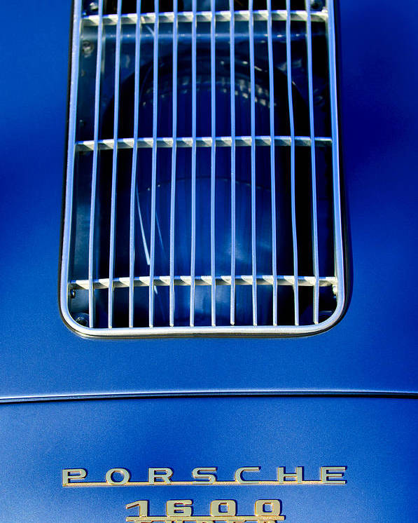 1957 Porsche 1600 Super Poster featuring the photograph 1957 Porsche 1600 Super Emblem -0565c by Jill Reger