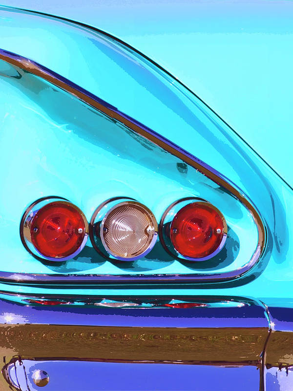 Palm Springs Poster featuring the photograph 1958 Impala Palm Springs by William Dey