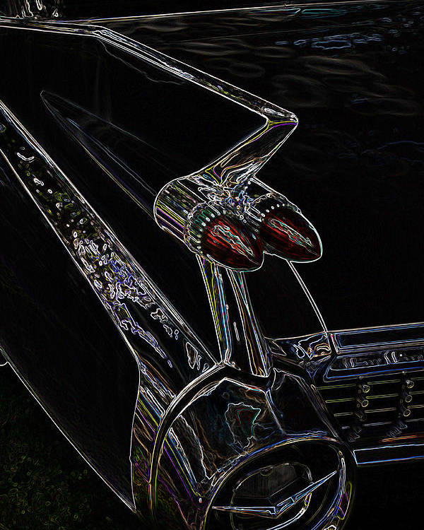 Hot Rod Poster featuring the photograph 1959 Caddy Art by Steve McKinzie