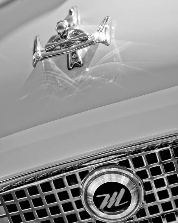 1960 Nash Metropolitan Hood Ornament And Grille Emblem Poster featuring the photograph 1960 Nash Metropolitan Hood Ornament by Jill Reger