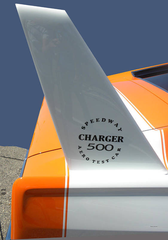 Chrysler Poster featuring the photograph 1967 Dodge Charger 01 by Thomas Woolworth