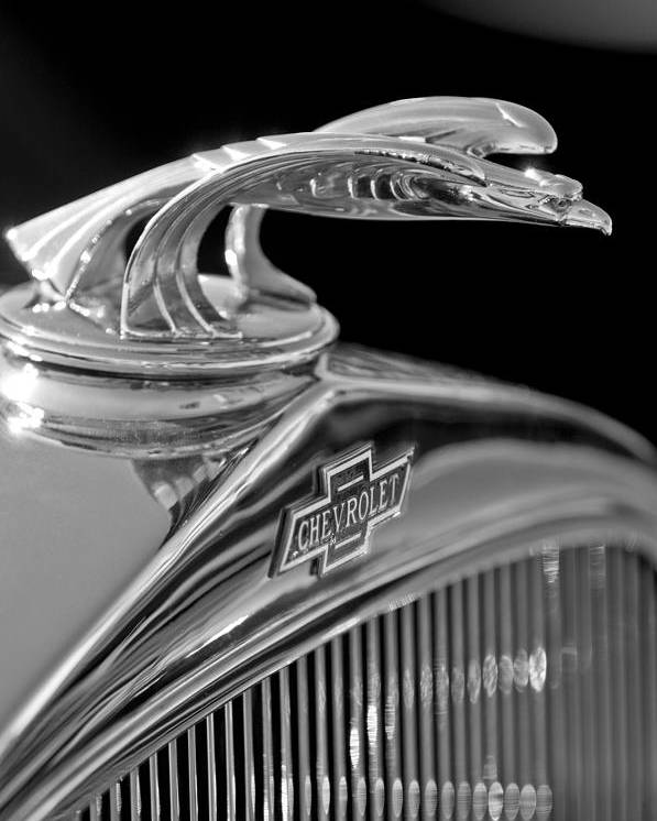 1931 Chevrolet Hood Ornament Poster featuring the photograph 1931 Chevrolet Hood Ornament by Jill Reger