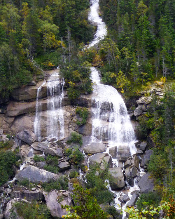 Alaska Poster featuring the photograph Alaskan Waterfall by David Nichols