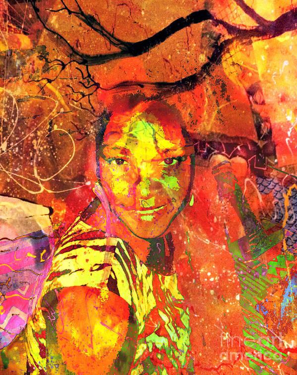 Fania Simon Poster featuring the mixed media Alive by Fania Simon