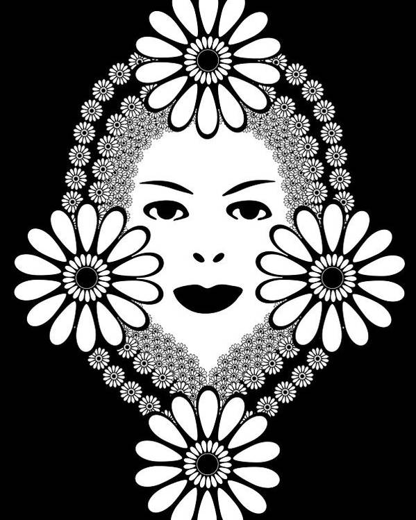 Art Nouveau Poster featuring the drawing Art Nouveau Woman by Frank Tschakert