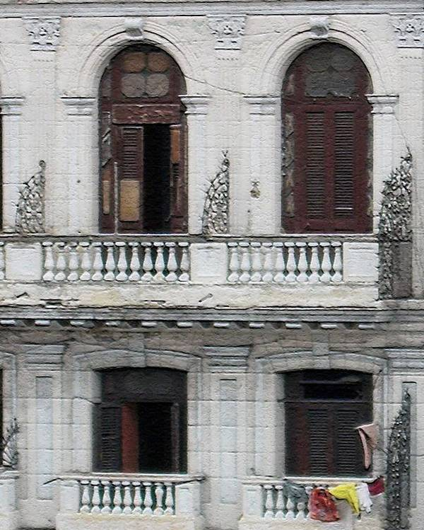 Cuba 2009 Poster featuring the photograph Balcony by Fran James
