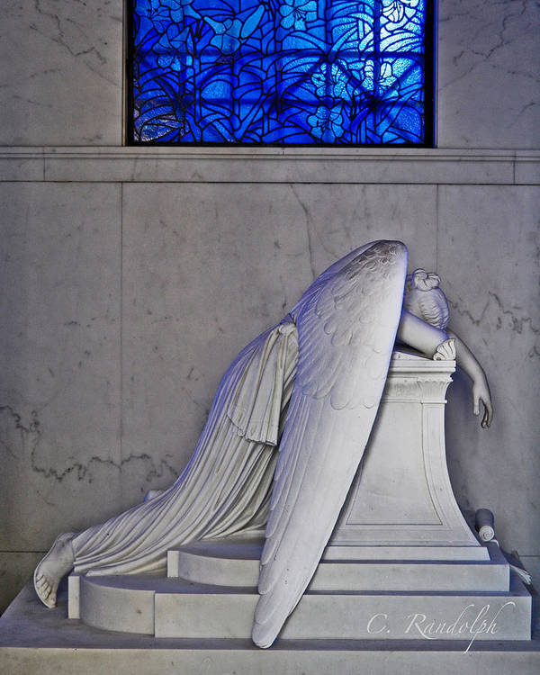 Weeping Angel Poster featuring the photograph Blue by Cheri Randolph