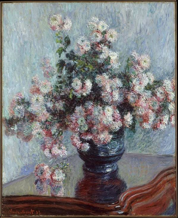 Monet Poster featuring the painting Chrysanthemums by Claude Monet
