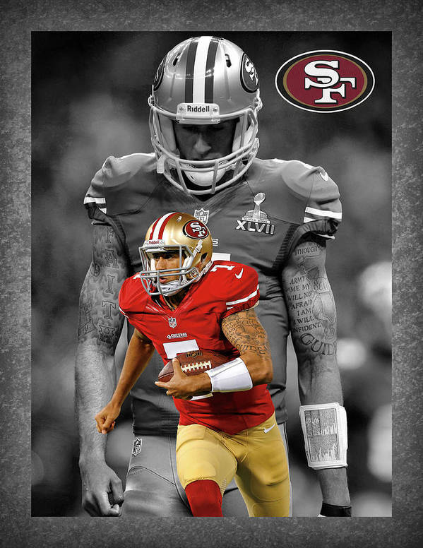 Colin Kaepernick Poster featuring the photograph Colin Kaepernick 49ers by Joe Hamilton