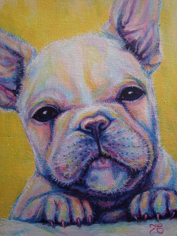 French Bulldog Poster featuring the painting French Bulldog by Jack No War