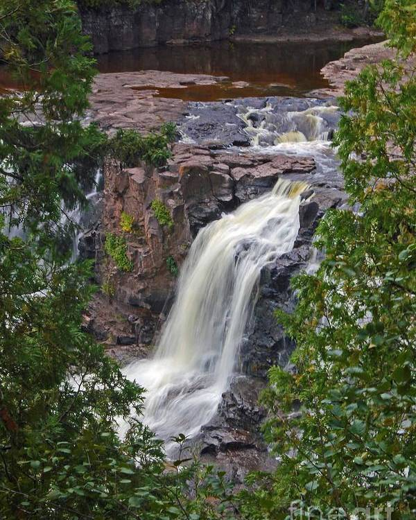 Gooseberry Falls Poster featuring the photograph Gooseberry Falls by Stephanie Hanson