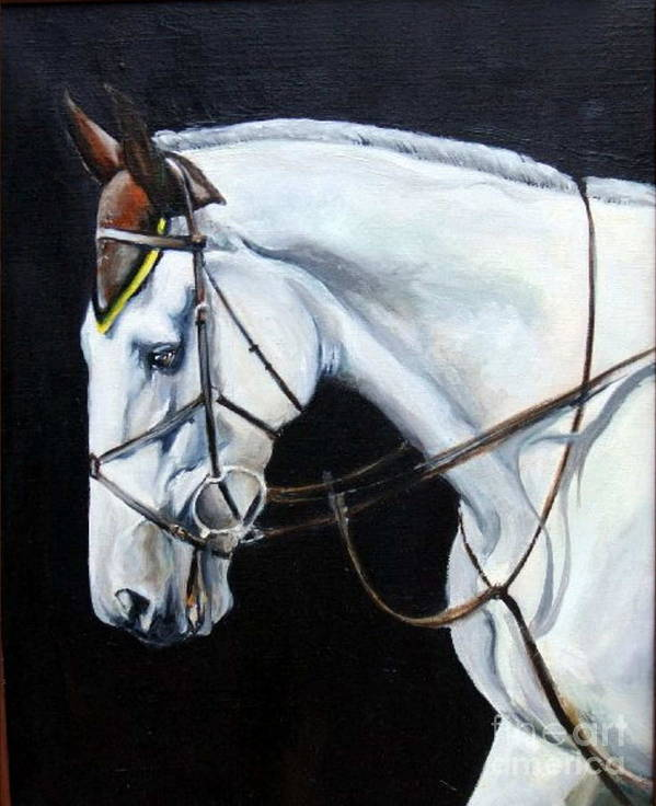 Horse Poster featuring the painting Grand Prix by Adele Pfenninger