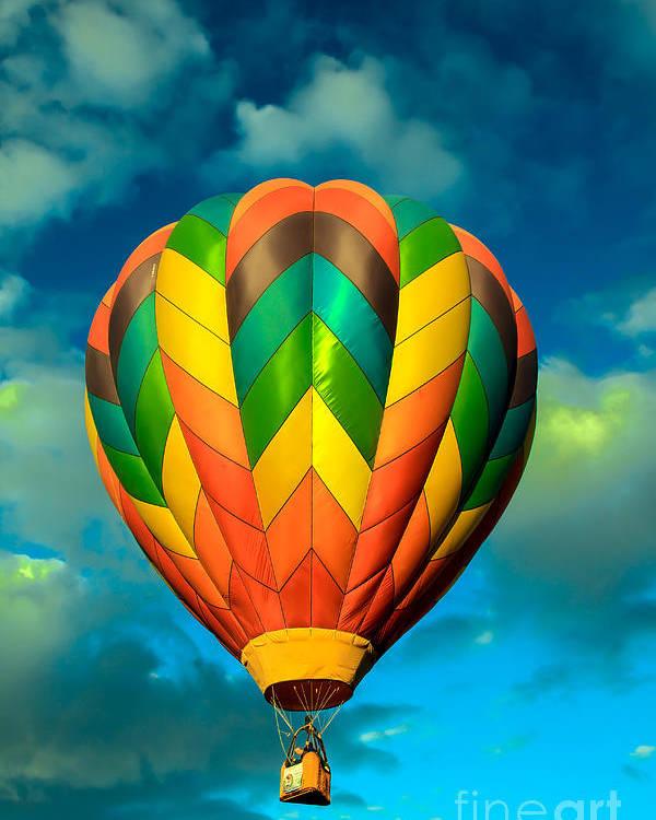 Arizona Poster featuring the photograph Hot Air Balloon by Robert Bales