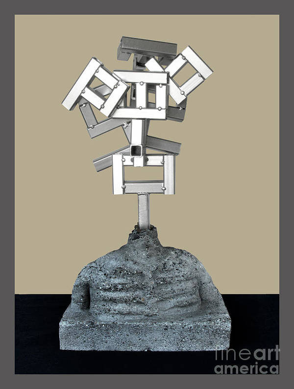Identity Poster featuring the sculpture Identity Crisis 03 by Peter Piatt