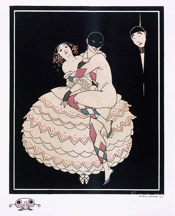 Male Poster featuring the painting Karsavina by Georges Barbier