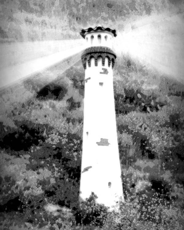 Lighthouse Poster featuring the photograph Lighthouse On The Hill by Chanelle Sheridan