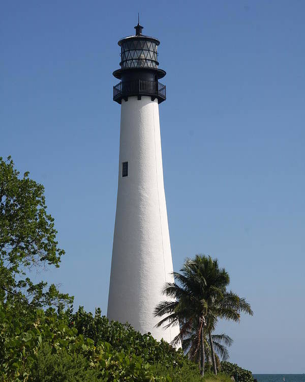 Ligthouse Poster featuring the photograph Ligthouse - Key Biscayne by Christiane Schulze Art And Photography
