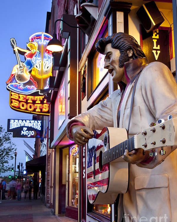 Nashville Poster featuring the photograph Music City Usa by Brian Jannsen