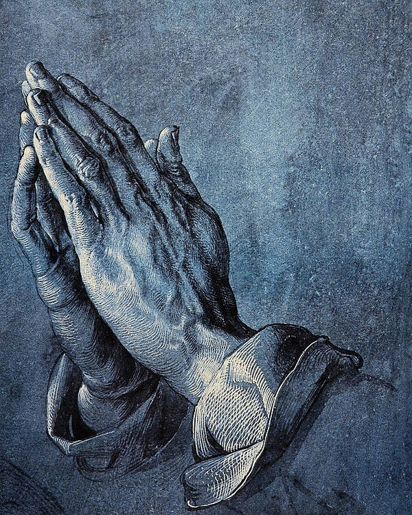 Albrecht Durer Poster featuring the digital art Praying Hands by Albrecht Durer