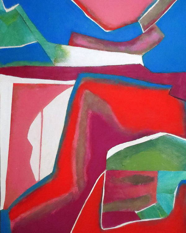Abstract Expressionism Poster featuring the mixed media Salsa by Diane Fine