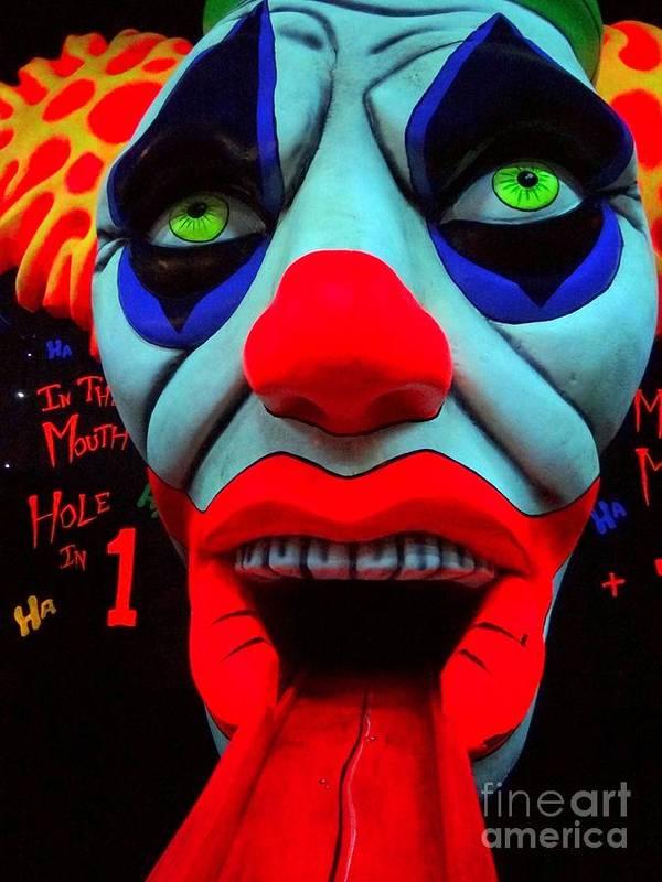 Clowns Poster featuring the photograph The Clown by Ed Weidman