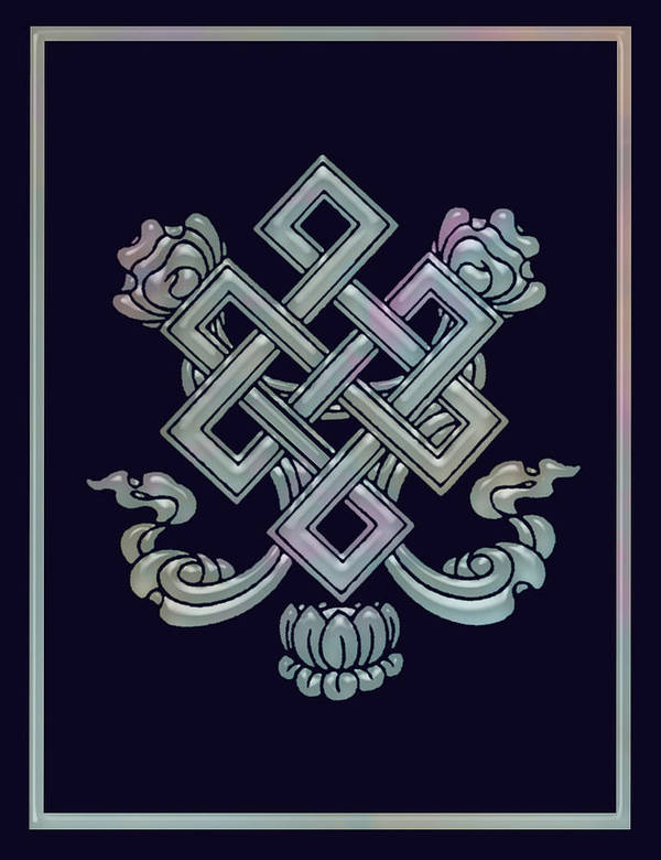 Buddha Poster featuring the digital art The Endless Knot by Gill Piper