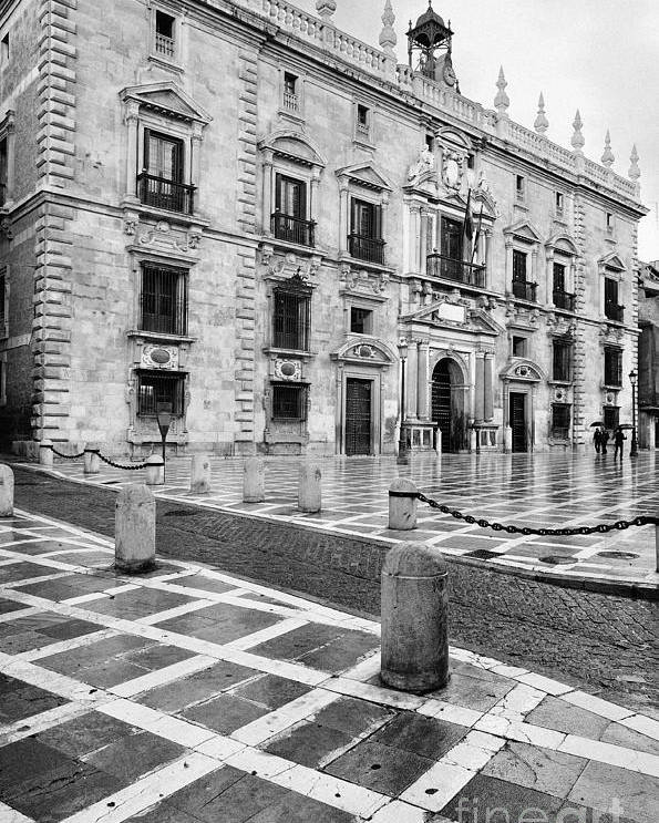 Monochrome Poster featuring the photograph The Royal Chancery Of Granada by Guido Montanes Castillo