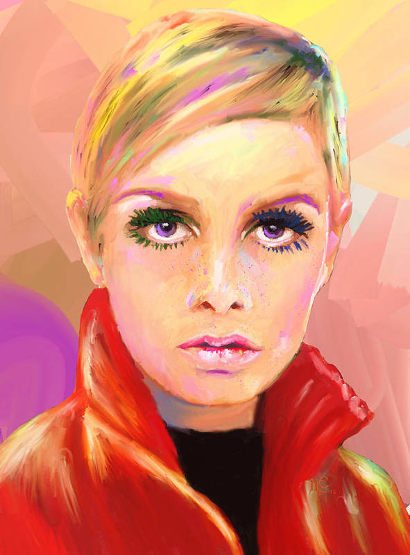 Twiggy Poster featuring the mixed media Twiggs by GCannon