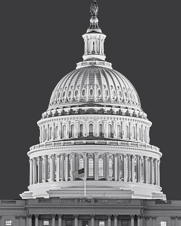 America Poster featuring the photograph Us Capitol Dome by Susan Candelario