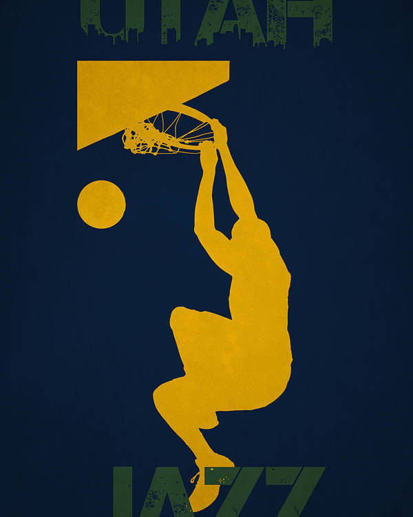 Jazz Poster featuring the photograph Utah Jazz by Joe Hamilton