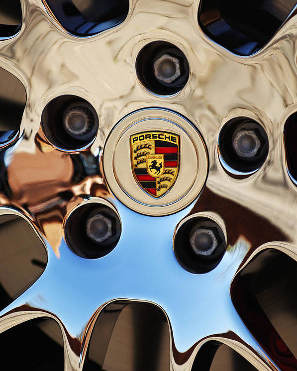 Car Poster featuring the photograph 2010 Porsche Panamera Turbo Wheel by Jill Reger