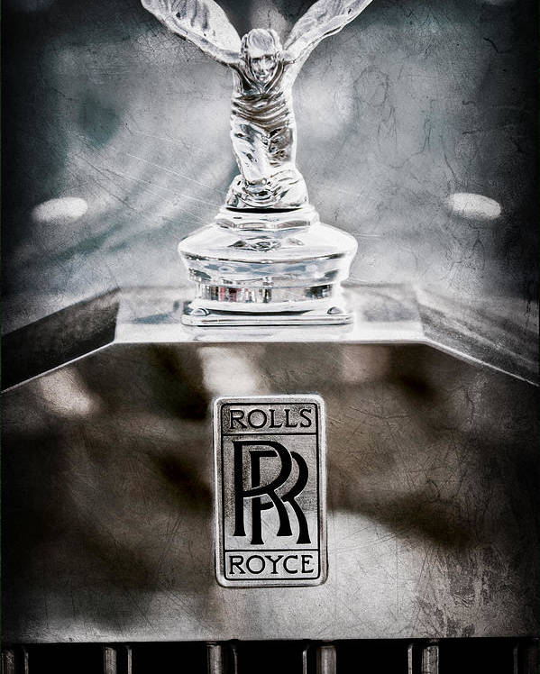 1952 Rolls-royce Hood Ornament Poster featuring the photograph 1952 Rolls-royce Hood Ornament by Jill Reger